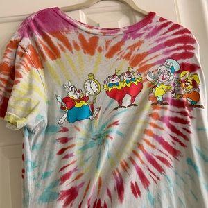Band Disney Alice in wonderland tie dye T-shirt